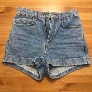 Vintage Style American Apparel Highrise Shorts